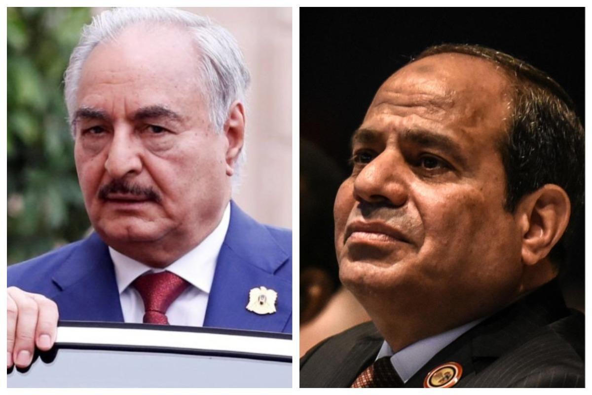Jalifa Haftar y Abdelfatah al Sisi