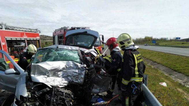Imagen del accidente en el que se ha visto involucrado Javi Pérez