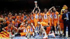 Los jugadores del Valencia Basket. (EFE)