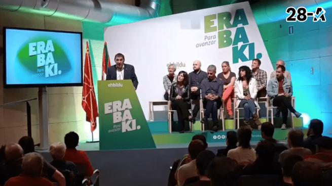 """Otegi acusa a C's y VOX de ir a """"su país"""" buscando """"ruido y no votos"""" porque son """"partidos marginales"""""""