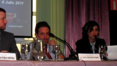 Pablo Iglesias y Dina Bousselham en 2011.