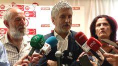 El ministro de Interior, Fernando Grande-Marlaska, en declaraciones a los medios (Foto: Europa Press)
