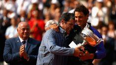 Rafa y Toni Nadal, en Roland Garros 2017. (Getty)