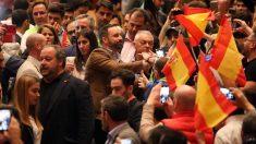 Santiago Abascal, líder de Vox, en un acto en Valladolid. Foto: Europa Press / Photogenic