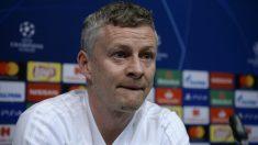 Solskjaer, en la rueda de prensa previa al Barcelona – United. (AFP)