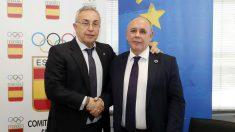 Alejandro Blanco, presidente del COE, y Carlos Daniel Casares, secretario general de la FEMP. (COE)