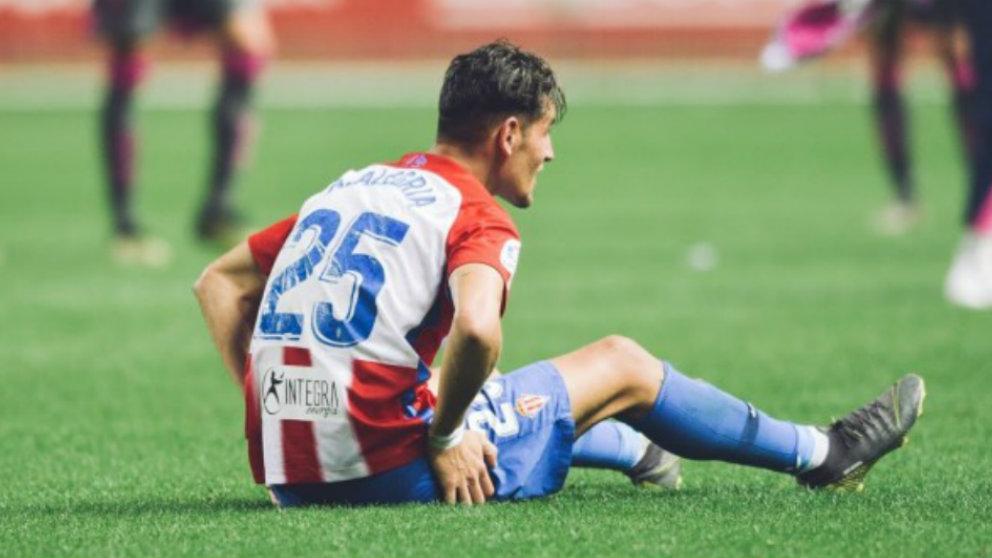 Álex Alegría con el Sporting de Gijón (Realsporting)