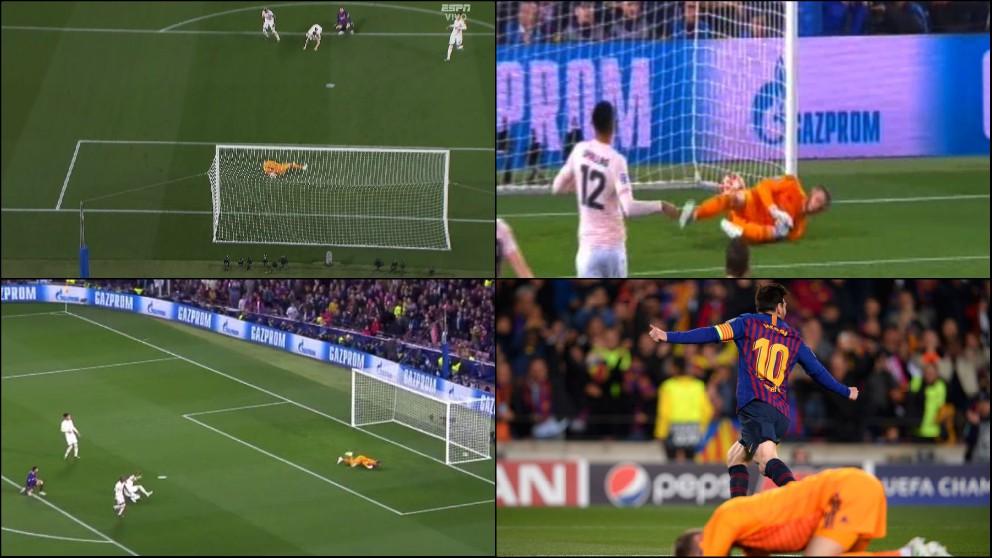 De Gea falló estrepitosamente en el segundo gol de Messi.