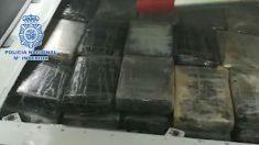 Bloques de cocaína incautada