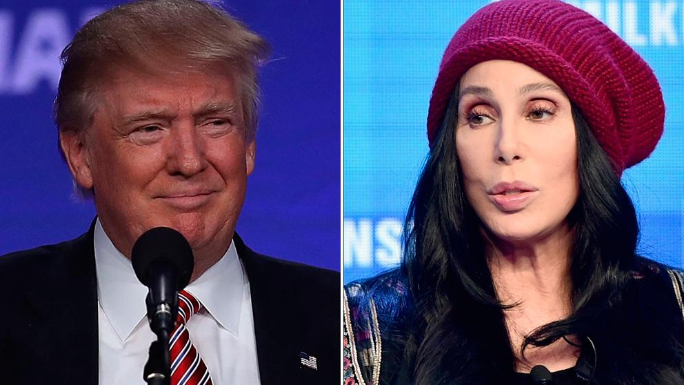 El presidente de los Estados Unidos, Donald Trump, y la popular cantante Cher.