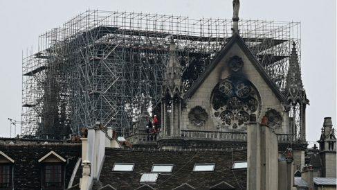 Estructura de Notre Dame. Foto: AFP