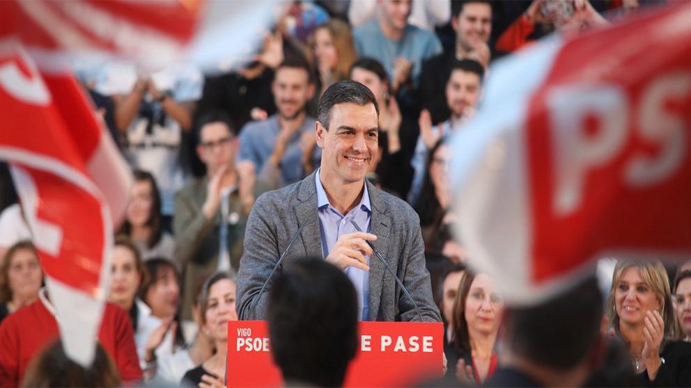 Sánchez este martes en Vigo.