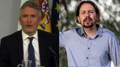 Fernando Grande-Marlaska y Pablo Iglesias. (Foto. Moncloa : Podemos)