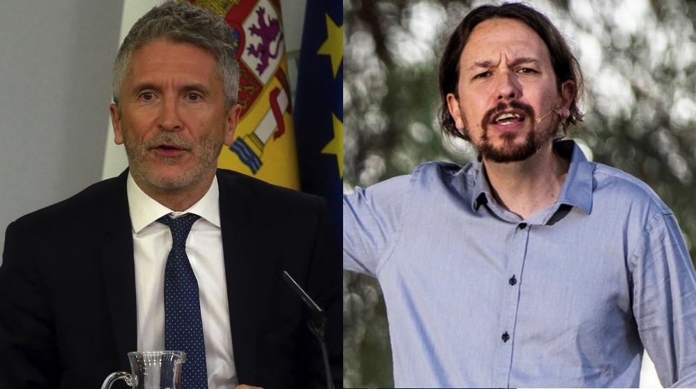 Fernando Grande-Marlaska y el líder de Podemos, Pablo Iglesias. (Foto. Moncloa : Podemos)