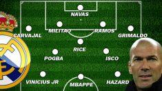 El once del Real Madrid para la próxima temporada, según 'The Sun'.