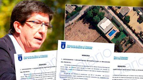 Juan Marín tiene un chalé ilegal con piscina en Chipiona