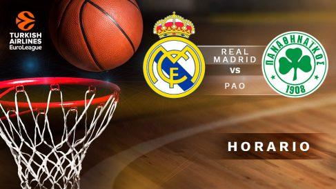 Real Madrid – Panathinaikos: horario y canal de televisión del partido de la Euroliga.