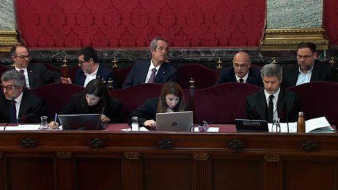 Captura de la señal institucional del Tribunal Supremo, donde se celebra el juicio al 'procés' independentista catalán.