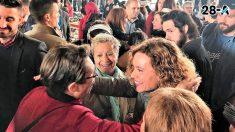 La ministra de Política Territorial y candidata socialista por Barcelona a las generales, Meritxell Batet, en un acto de campaña electoral en el Mercadal de Sant Adrià de Besòs. Foto: Europa Press