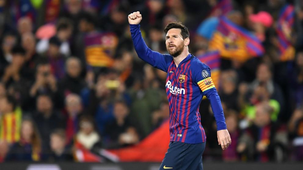 Messi, durante un partido de la pasada temporada. (Getty)