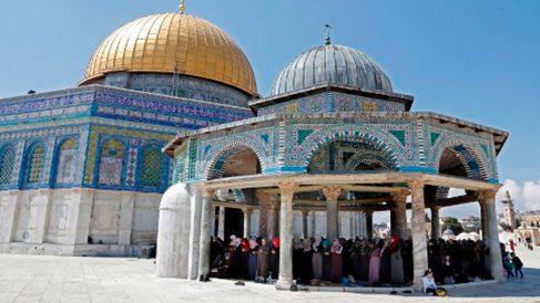 Una zona del complejo de la mezquita de Al-Aqsa en Jerusalén. Foto: AFP