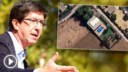 Juan Marín tiene un chalet ilegal con piscina en Chipiona