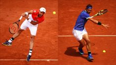 Roberto Bautista y Rafa Nadal.