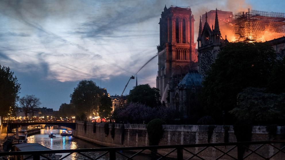 Incendio en la Catedral de Notre Dame (Foto: EP)