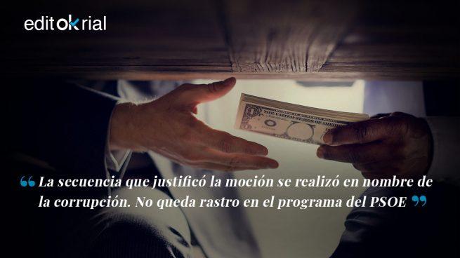 Sánchez no quiere luchar contra la corrupción