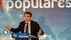 PabloCasado, en un acto electoral este martes en Ciudad Real.