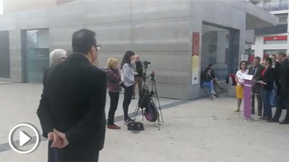 Menos de 15 personas en la presentación de la candidatura municipal de Podemos en Molina de Segura (Murcia)
