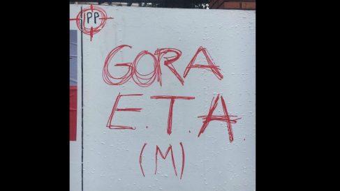 Pintada en Vizcaya contra el PP. Foto: Europa Press