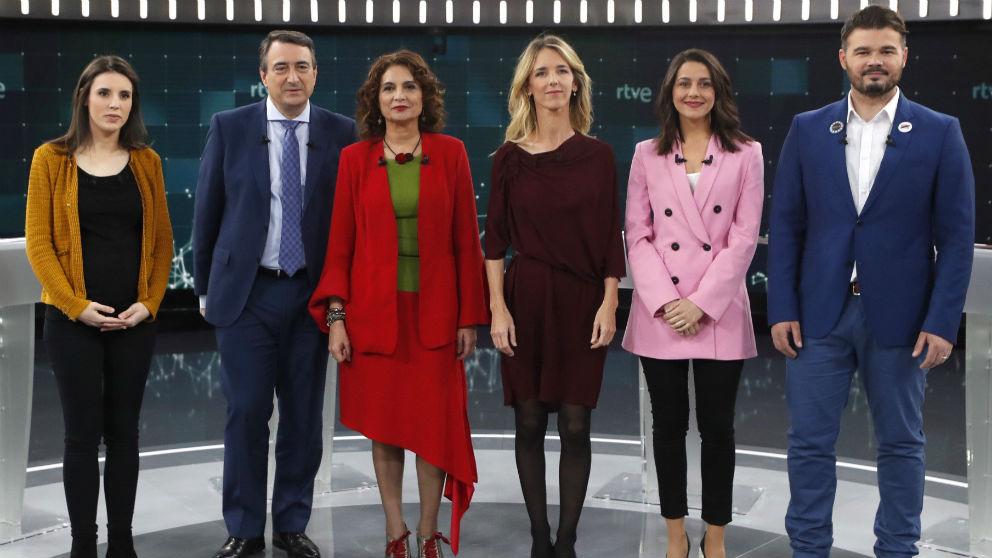 Los participantes en el debate a seis de TVE