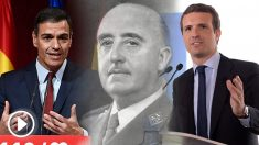 PedroSánchez, Francisco Franco y Pablo Casado