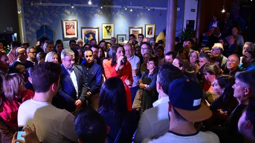 Inés Arrimadas en un acto de campaña. Foto: Europa Press