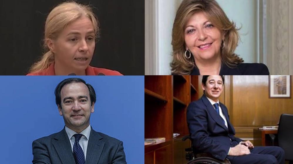 Inma Sanz, Borja Carabante, Engracia Hidalgo y Borja Fanjul, del 3 al 6 de la lista.