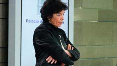 La portavoz del Gobierno, Isabel Celaá, durante la rueda de prensa tras el Consejo de Ministros. Foto: Europa Press