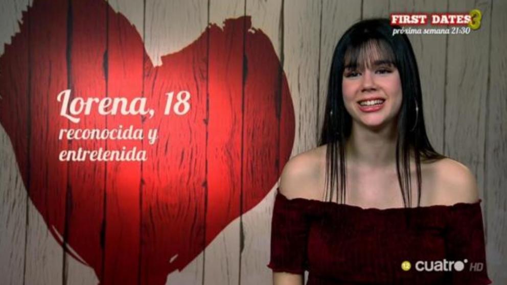 Lorena ha dicho que ya era famosa antes de ir a 'First Dates'