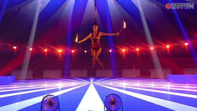 'Got Talent': Un fallo técnico mantiene a una concursante suspendida durante un minuto