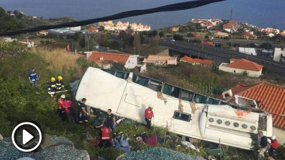 Accidente de autobús en Madeira