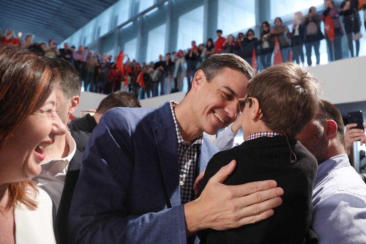 Sánchez, este miércoles, durante el acto electoral en Mallorca