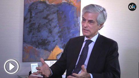 Adolfo Suárez Illana en un momento de la entrevista con OKDIARIO