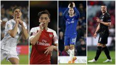 Arsenal – Valencia y Eintracht – Chelsea, en las semifinales de la Europa League. (AFP y Getty)