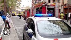Incendio en L'Hospitalet de Llobregat.