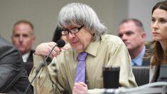 David Turpin al conocer su condena a cadena perpetua. Foto. AFP