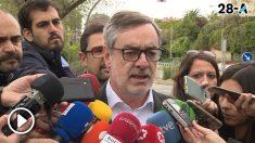 José Luis Vilegas, a la entrada de Torrespaña. (Foto: Europa Press)