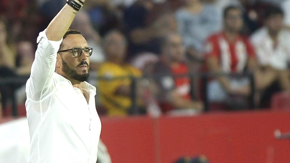 José Bordalás en el Sánchez Pizjuán (AFP)