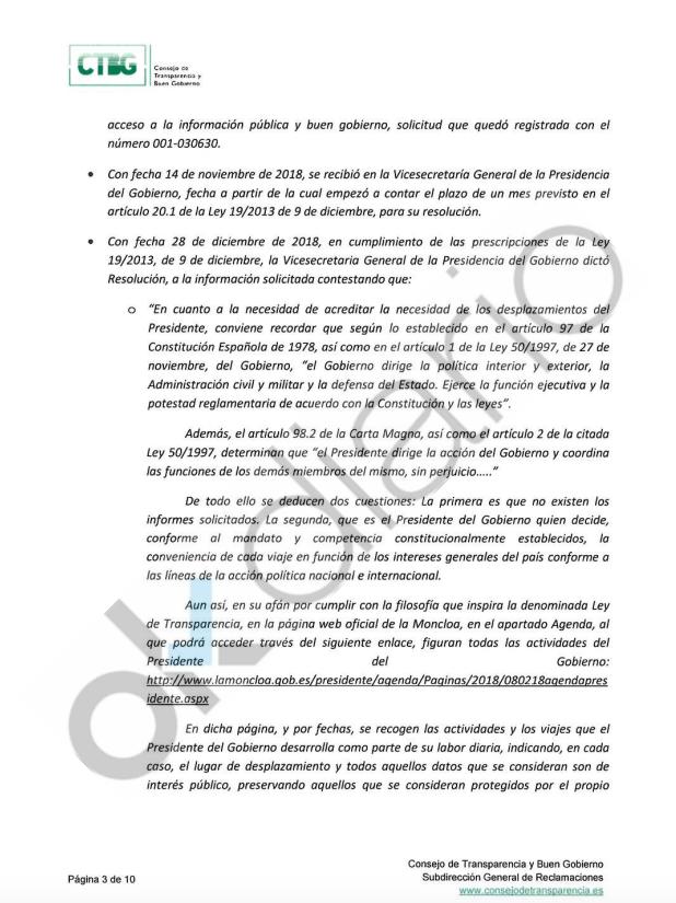 """Sánchez dice en documentos internos que usa el Falcon y el Super Puma """"por el interés general de España"""""""