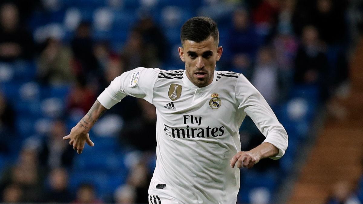 Dani Ceballos, durante un partido del Real Madrid (Getty).