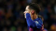Philippe Coutinho celebra un gol en el Camp Nou. (Reuters)